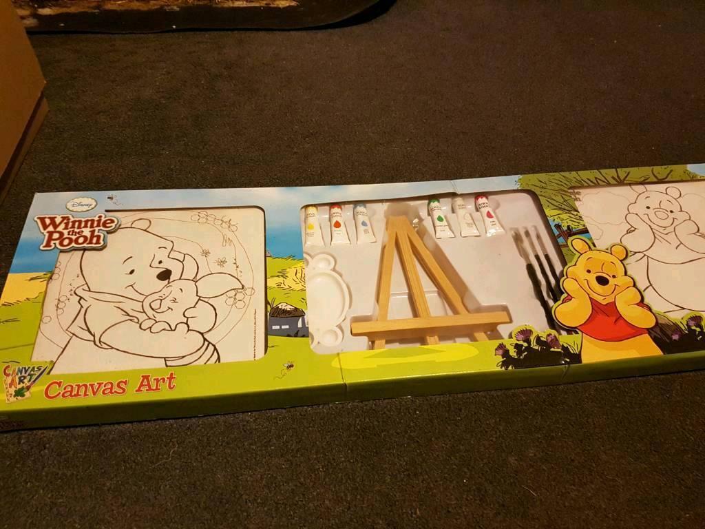 Disney Winnie the Pooh canvas set