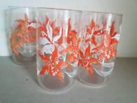 5 retro orange glasses 1970s