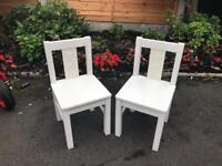 2 small children's chairs