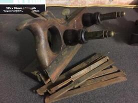 Antique wooden plough planes