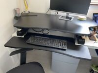 Duronic Sit-Stand adjustable office desk second hand excellent condition