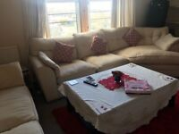 Quality sofa set 3+3+corner+1 and red rock cost£1600 ,, 6 mnts old