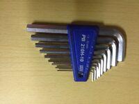 PB Allen keys/hex keys