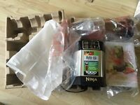 Brand new Nutri Ninja Auto IQ 1000W Nutrient & Vitamin Extraction Health Blender + 2 Cups