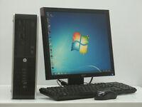HP Compaq PC Computer Intel i5 5Ghz 4GB RAM 250GB HDD Win 7 from £125 (25A)