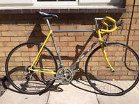Italian Carrera Vintage Men's Road Bike (yellow & silver)