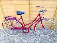 Raleigh Vintage Ladies Classic Town Bike - Serviced