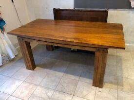 Solid Wood Teak Dining Table by Oak Furniture Land