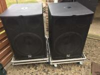 EV ElectroVoice Speakers - EV Tour X 118 Bass Bins In Flight Cases !