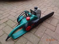Bosch mains chainsaw very little used in excellent condition.