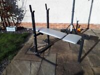 York weights bench, adjustable back height