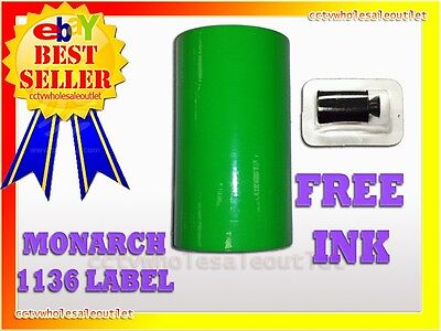 Fluorescent Green Label For Monarch 1136 Pricing Gun 1 Sleeve8rolls