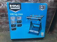Mac Allister Aluminium Folding Workbench - New - Still Boxed