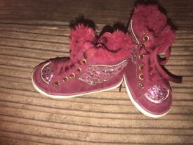 Girls Size 5 high tops From next