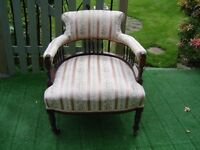 Edwardian salon low tub chair