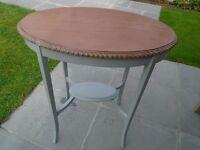 Vintage Oak Hall/Side Table