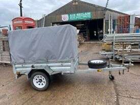 6ft x 4ft Galvanised Caged Side Trailer with Canopy 7500kg