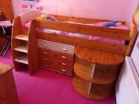 Stompa mid sleeper,wardrobe,chest of drawers ,desk /art.