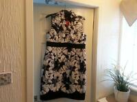 black in white dress ronnie nicole new size 12