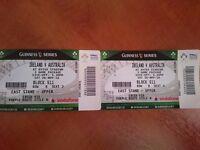 2 x Tickets for Guinness Series - Ireland v Australia
