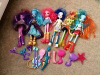 My little pony equestria girls dolls x6