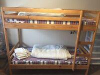 Pine single shorty bunk beds