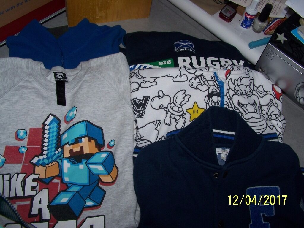 sweatshirts and hoodiesin Monifieth, DundeeGumtree - varied selection of sweatshirts and hoodies with different logos i.e Mario,Scottish rugby and Mine craft All worn but still in very good condition
