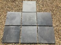 GREY SLATE FLOOR TILES x 7. GOOD CONDITION.