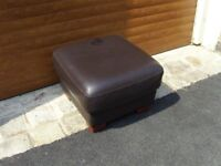 Faux Leather Footrest/Stool