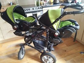 twin pram travel system