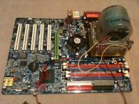 GIGABYTE GA-8IPE1000 Pro2 Motherboard/CPU/Cooling Fan (spares or repair)