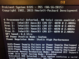 HP DL580 G7 4x E7 4870 2.4ghz 40 Core, 64gb ram
