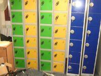 PROBE 12 DOOR / 12 COMPARTMENT PERSONAL LOCKERS - 4 KEYS MISSING