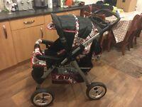 Pushchair 3 in 1 baby travel system