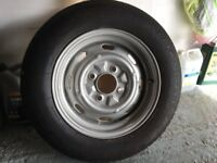 VW Beetle wheel with new radial tyre