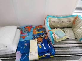 Cot Bed Sets, Bumpers, Pillow, Duvet