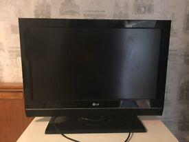 Black LG flat screen tv HD