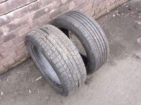2x 205/55/r16 part worn tyres