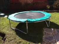 8ft trampoline, as new, with enclosure