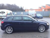 AUDI A3 2.0 DIESEL 170 BHP S LINE,HPI CLEAR,CAMBELT CHANGE FROM AUDI,2 OWNER,2 KEY,LEATHER,ALLOY,A/C