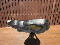 """Garden fish pond about 6ft in length x3ft at widest x18 """" narrowest it has a small bash no leaks"""