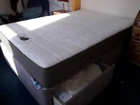 Double Divan Bed with Memory Mattress