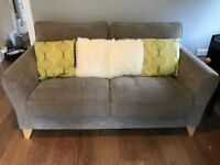 SOLD - Debenhams Fyfield two seater sofa in grey