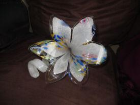 Murano glass flower, glass flower, Made in Italy, lovely design and artwork