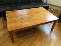 Large Pine Coffee Table 75.5cm X 118cm X 40cm H