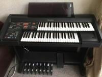 Technics PCM Sound EX20L electric organ double stack keyboard