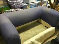 SOFA BED large 2 seat with loose black velvet covers - requires assembling Stoke Bishop BRISTOL