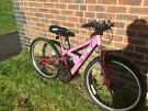 Girls pink S24 Apollo mountain bike, in good working condition!!