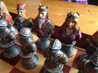 Beautiful ornate chess set
