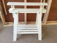 IKEA Trestle Legs White Used condition 3 available £10 each